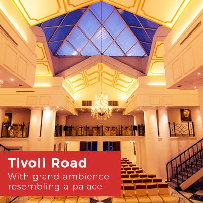 Banquet Halls at Tivoli Road, Hyderabad